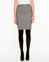 Le Château Check Print Pencil Skirt