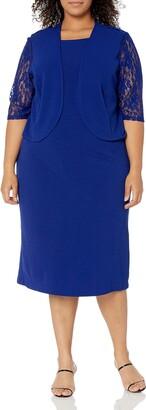 Maya Brooke Women's Size Lace Jacket Dress Plus