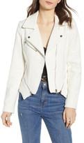Blank NYC Blanknyc Tweed Fitted Zipper Moto Jacket