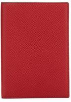 Smythson Panama Calfskin Passport Cover, Red