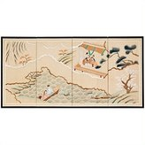Oriental Furniture Discontinued Feb 2011, 6-Feet Golden Paradise Chinese Hand Painted Wall Screen Painting, 36 by 72-Inch