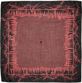 Haider Ackermann Black & Red Patterned Scarf