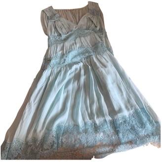 Galliano Blue Cotton Dress for Women