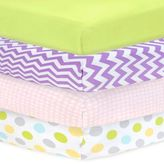 Carter's Mix & Match Sateen Fitted Crib Sheet in Country Green