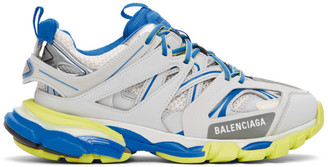 Balenciaga Grey and Blue Track Sneakers