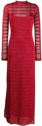 M Missoni Knit Overlay Maxi Dress