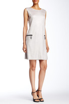 Insight Cracked Faux Leather Dress