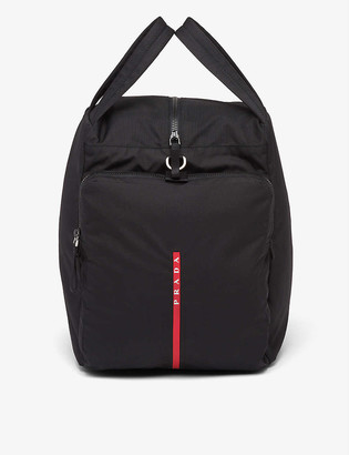 Prada Logo-patch zipped nylon boot bag