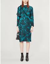 Christian Dior Vestiaire Collective floral-print silk midi dress