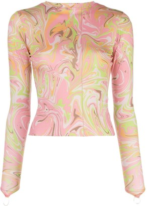 MAISIE WILEN Body Shop marble print top