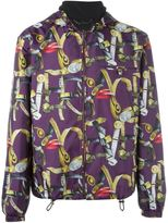 Versace belt print blouson jacket