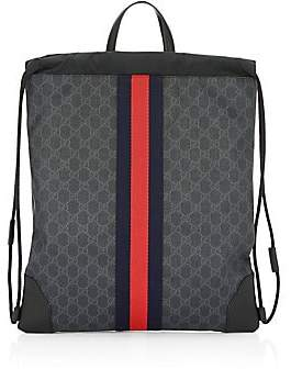 Gucci Men's GG Signature Web Drawstring Backpack