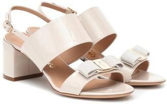 Salvatore Ferragamo Giulia patent-leather sandals