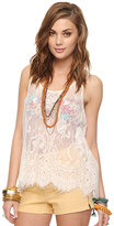 Forever 21 Lace Trapeze Tank