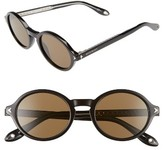 Givenchy Women's 50Mm Round Sunglasses - Black
