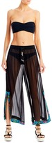 Nicole Miller Aztec Embroidered Pants