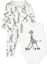 Stella McCartney giraffe print romper and body set