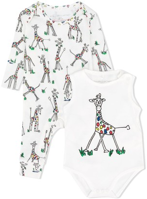 Stella McCartney Kids Giraffe Print Romper And Body Set