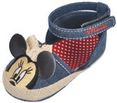 "Disney Minnie Mouse Baby Girls' ""Chambray Espadrille"" Sandal Booties"