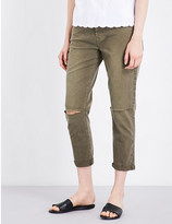 7 For All Mankind Josefina distressed boyfriend mid-rise jeans