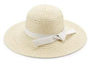 Collection 18 Ribbon-Trim Straw Hat