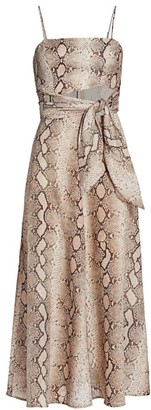 Zimmermann Bellitude Python Print Midi Dress