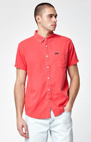 RVCA Front Lawn Short Sleeve Button Up Shirt