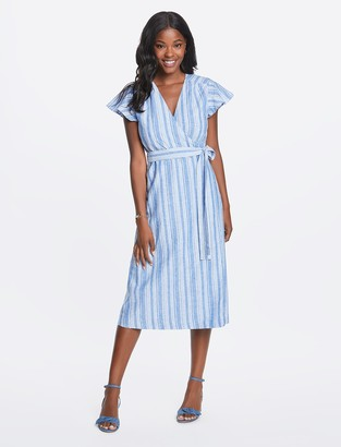 Draper James Linen Wrap Dress