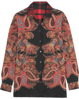 Etro Printed Silk Shirt - Red