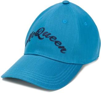 Alexander McQueen logo embroidered baseball cap
