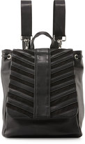 Cynthia Vincent Hattie Flap-Top Backpack, Black Matte