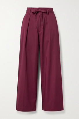 Forte Forte Cotton-twill Wide-leg Pants - Magenta