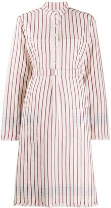 Ports 1961 Stripe-Print Belted Shirt Dress