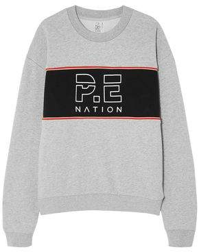 P.E Nation Invictus Oversized Paneled Cotton-jersey Sweatshirt