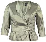 Alex Evenings Womens Metallic Bow Wrap Top XL