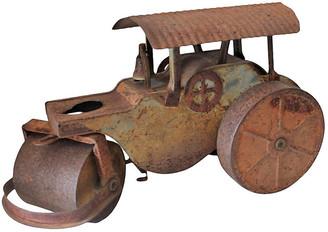 One Kings Lane Vintage Boston Tin Toy Steam Roller Truck - Luis Rodriquez - rust