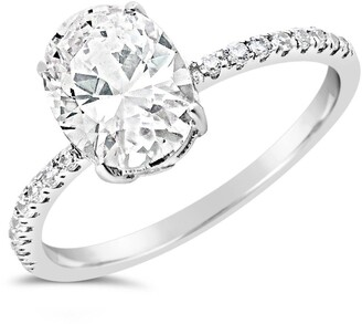 Sterling Forever Sterling Silver Oval CZ Ring