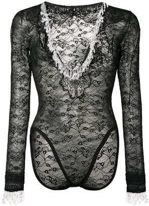 Christopher Kane Pearl Stretch Lace Body