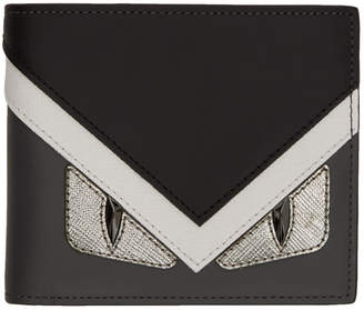 Fendi Grey and White Bag Bugs Wallet