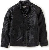 First Wave Big Boys 8-20 Quilted Shoulder Moto Jacket