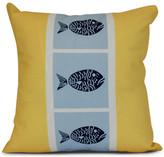 "Fish Chips, Animal Print Pillow, Yellow, 18""x18"""
