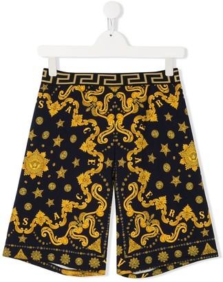 Versace TEEN Barocco print shorts