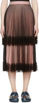 Christopher Kane Black & Pink Layered Tulle Skirt