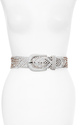 Rachel Parcell Braided Leather Belt