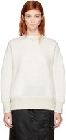 Sacai Off-white Lace-up Sponge Sweatshirt