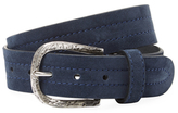 Berge Distressed Matte Buckle Leather Belt