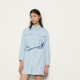 Sandro Shirt dress with decorative buttons