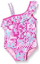 Pumpkin Patch Girl's Multi Spot Polka Dot Swimsuit,3 Years (Manufacturer Size:2)