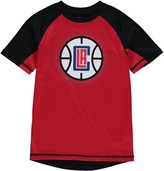 Outerstuff Youth Red/Black LA Clippers Color Block Rash Guard T-Shirt