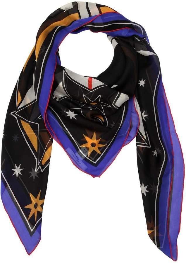 Givenchy Lightening Printed Silk Chiffon Scarf